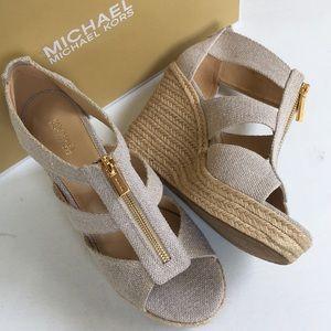 NIB Michael Kors wedge sandals